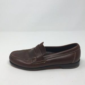 JOHNSTON AND MURPHY BROWN LOAFERS 9M